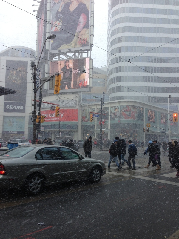 first snow yonge and dundas